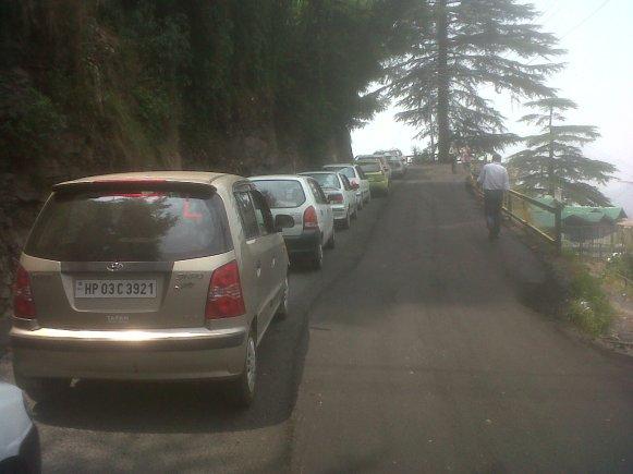 Typical Traffic Jam in Shimla