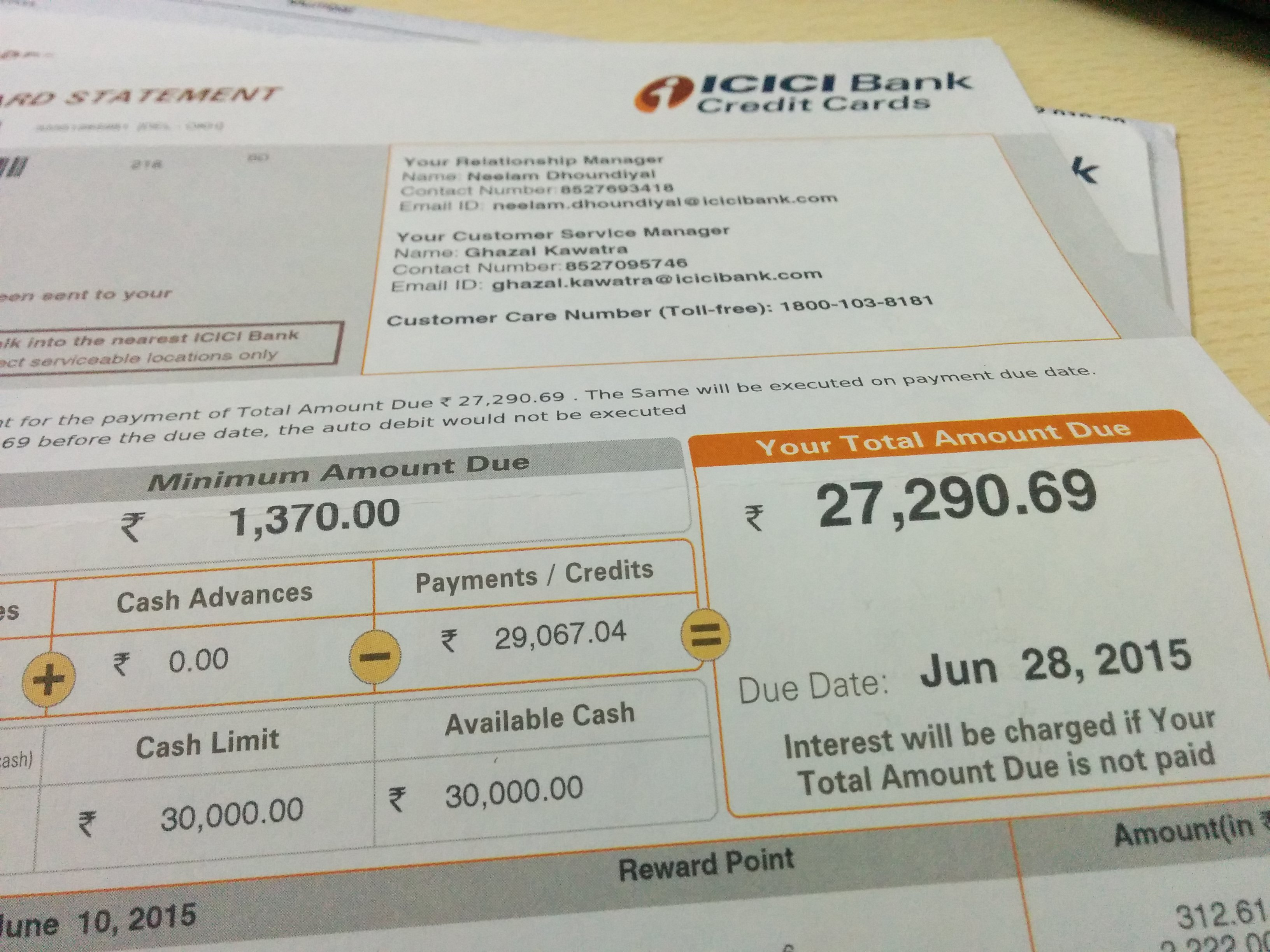 a case of misleading credit card statement